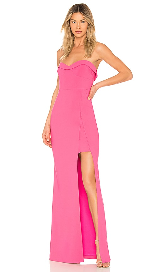 LIKELY Ella Gown in Fuchsia