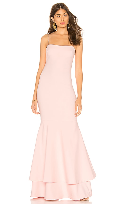 LIKELY Aurora Gown in Pink