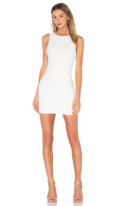 LIKELY Sleeveless Manhattan Dress in White