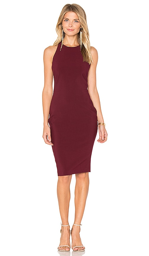 LIKELY Gilmore Dress in Burgundy