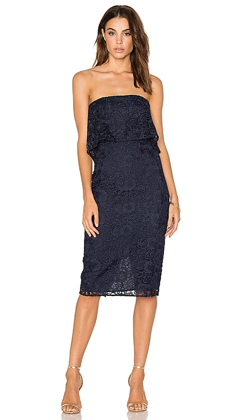 LIKELY Lace Driggs Dress in Blue