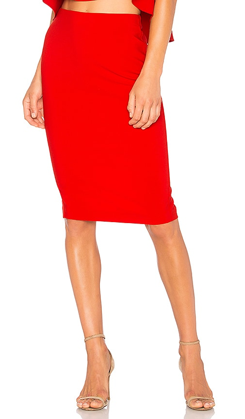 LIKELY Tallow Skirt in Red