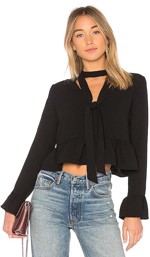 LIKELY Long Sleeve Lettie Top in Black