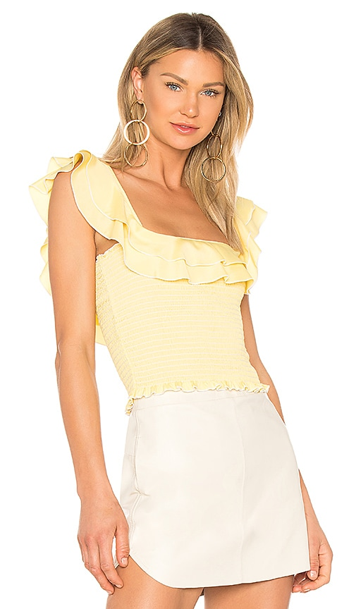 LIKELY Athena Top in Yellow