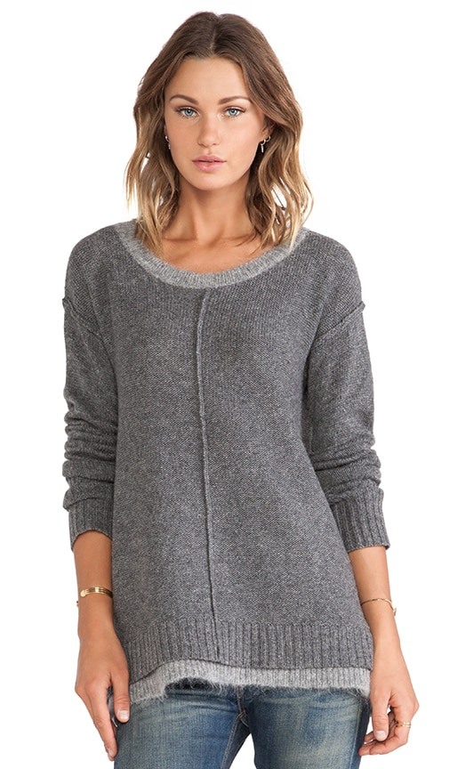 Nova Boxy Sweater with Contrast Neck & Hem