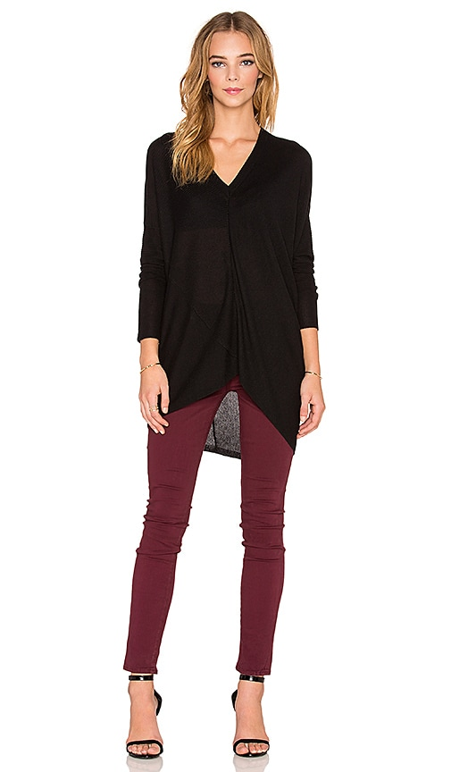 Line Brandon V Neck Sweater in Caviar