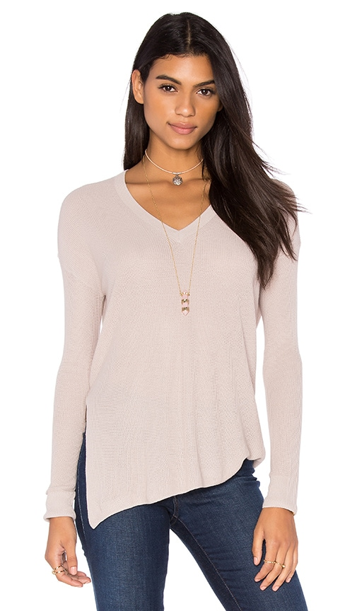 Line Hayden V Neck Sweater in Rosin