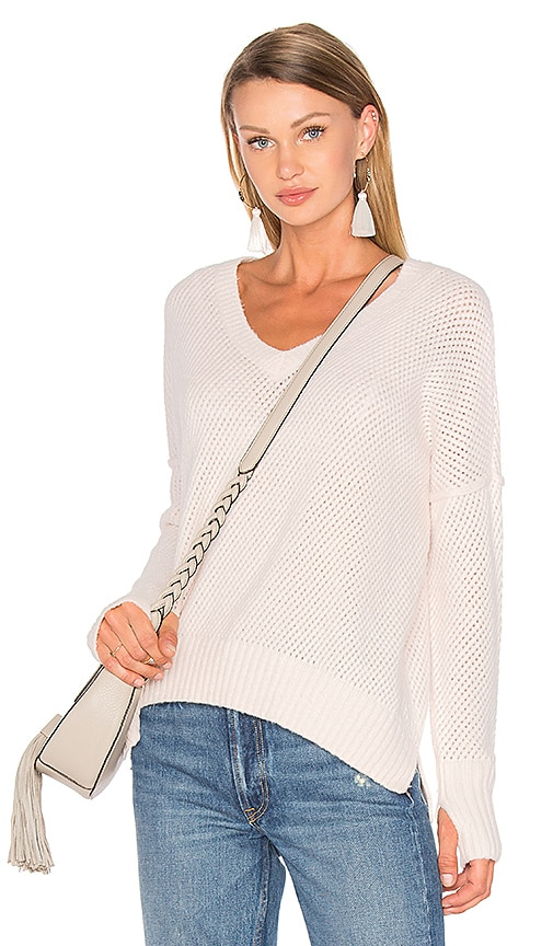 Line Charlie V Neck Sweater in Pink