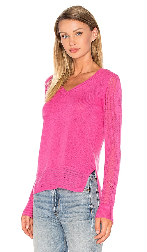 Line Dori V Neck Sweater in Pink