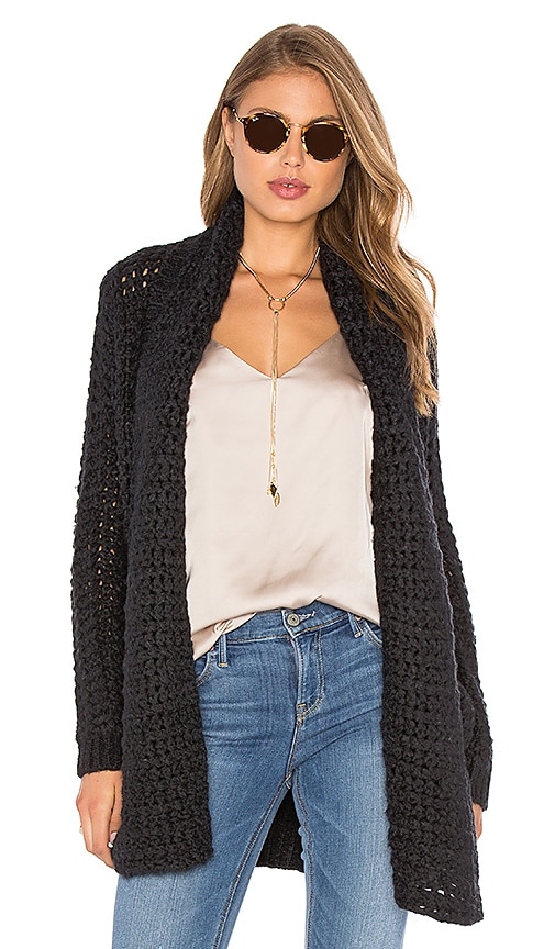Line Barclay Cardigan in Black