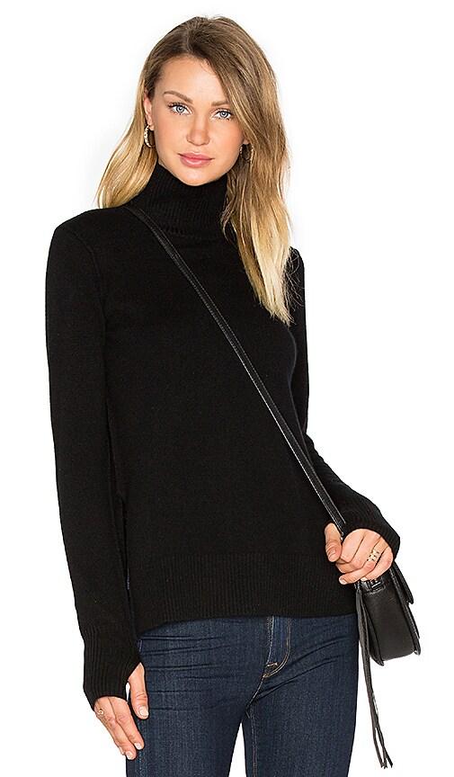 Line Serena Mock Neck Sweater in Black
