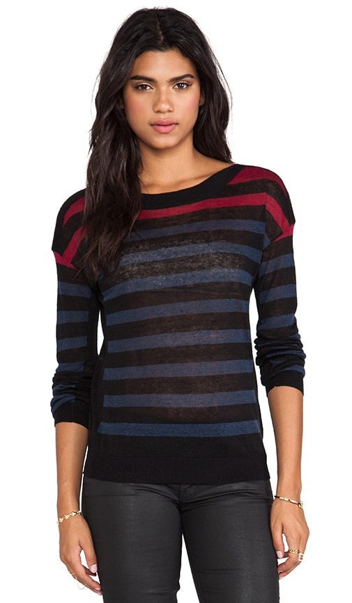 The Windswept Striped Linen Pullover