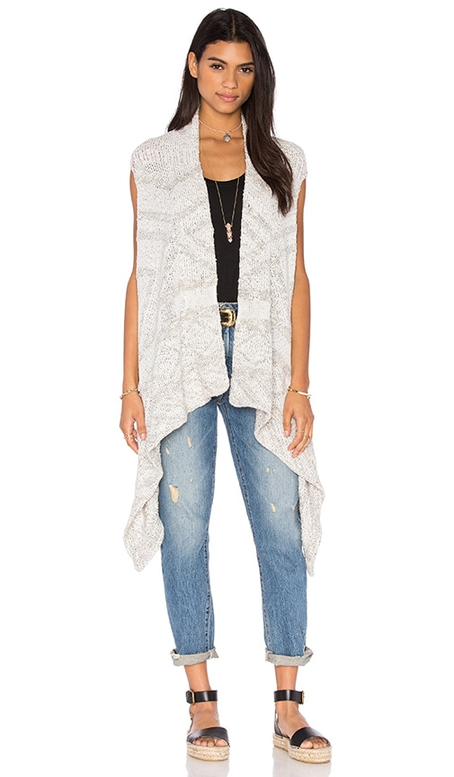 Line Printed Vest in Gray