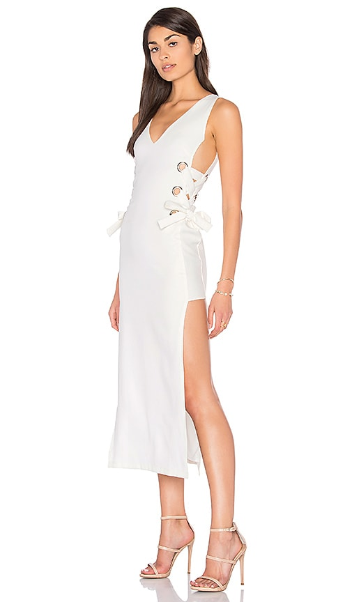 LIONESS All Tied Up Russett Dress in White