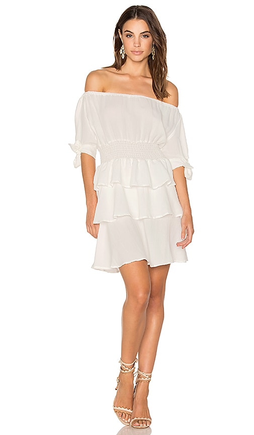LIONESS Cuban Nights Dress in White