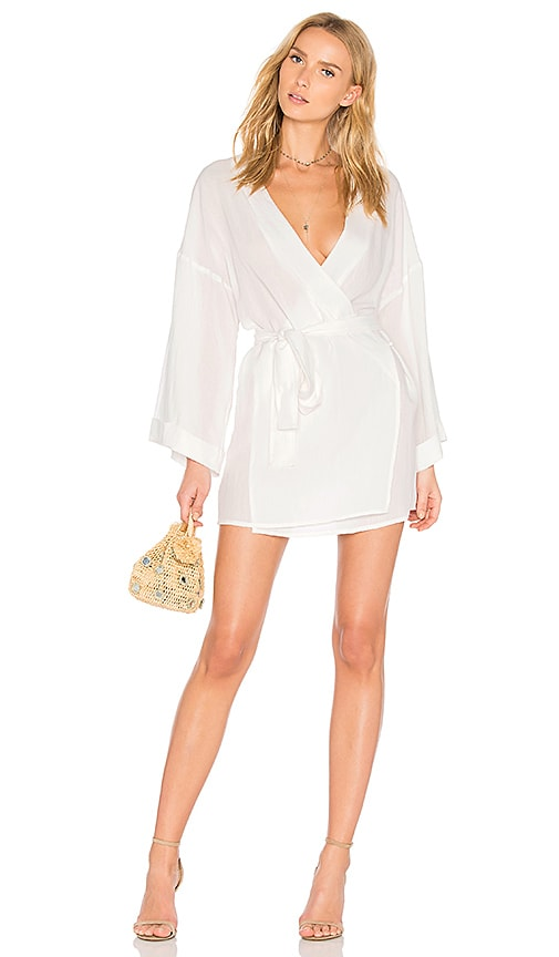 LIONESS San Miguel Wrap Dress in White