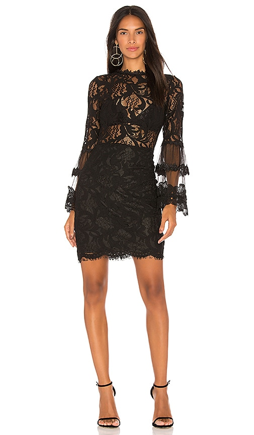 LIONESS Chancellor Lace Dress in Black
