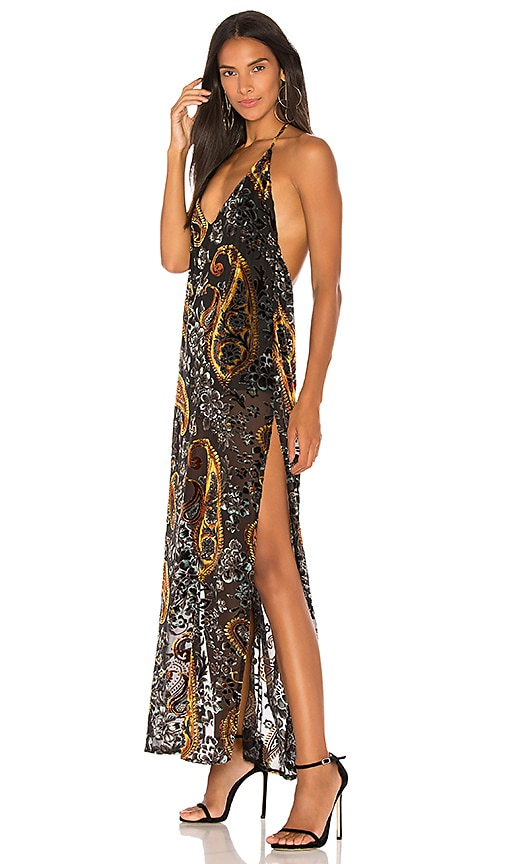 LIONESS Don't Be Jealous Maxi Dress in Black