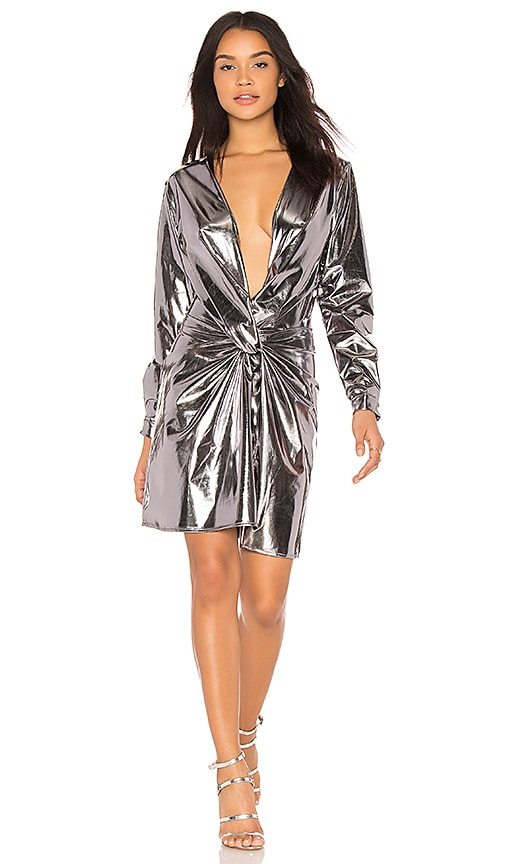 LIONESS Fame & Lust Dress in Metallic Silver