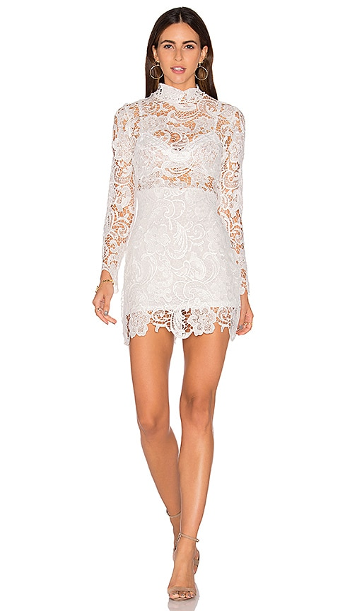 LIONESS Falling For Florence Lace Dress in White
