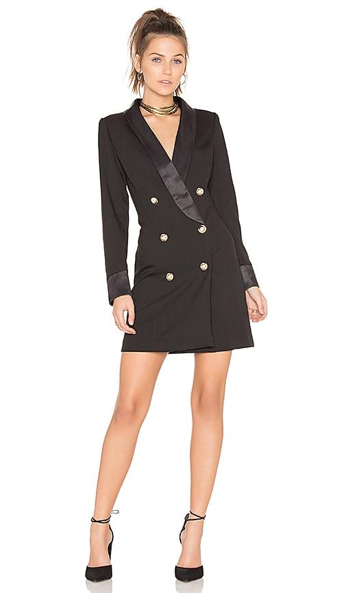 LIONESS Palermo Blazer Dress in Black