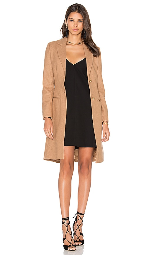 LIONESS Donatella Short Winter Coat in Tan