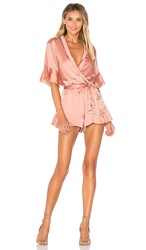 86078259095 LIONESS Meet Me In Como Romper in Dark Blush