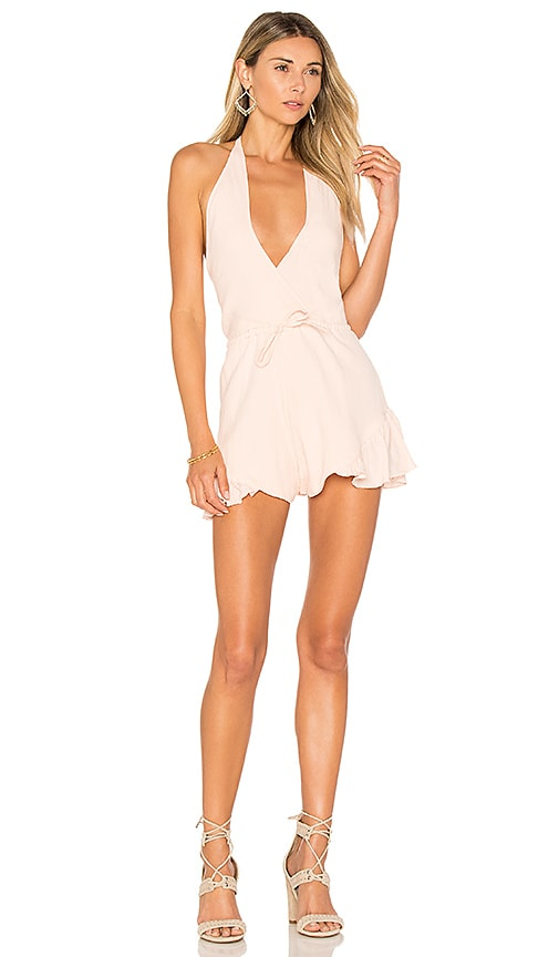 LIONESS All Summer Long Romper in Pink