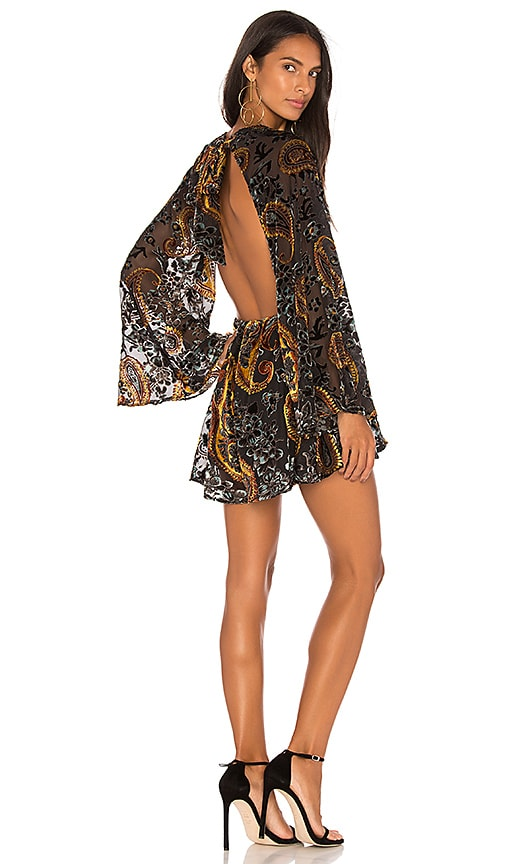 LIONESS Lovers and Gamblers Romper in Black