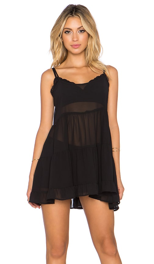 Lisakai Ruffle Dress in Black