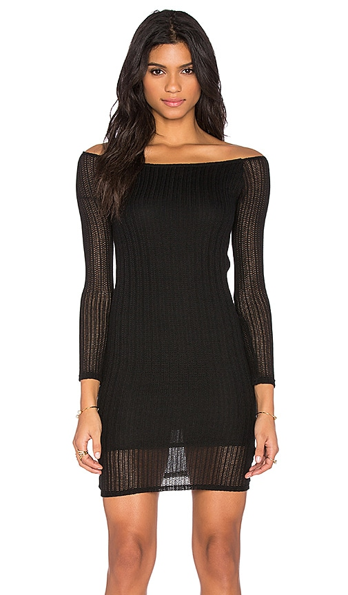 Lisakai Crochet Lima Dress in Black