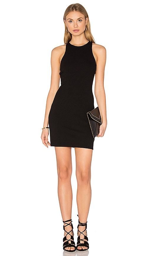 Lisakai Rib Cut Out Dress in Black