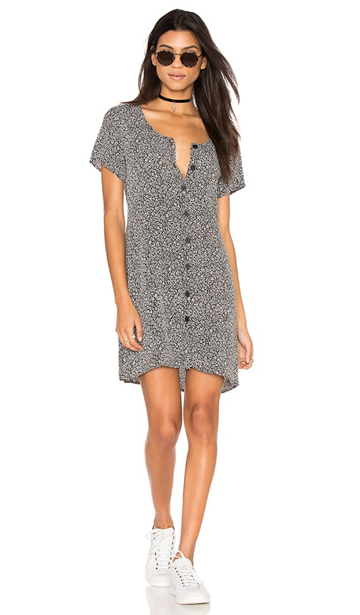 Lisakai Button Down Dress in Black & White