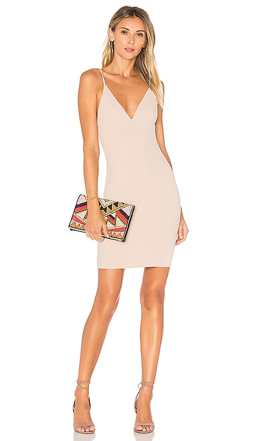 Lisakai Ribbed Tank Dress in Tan
