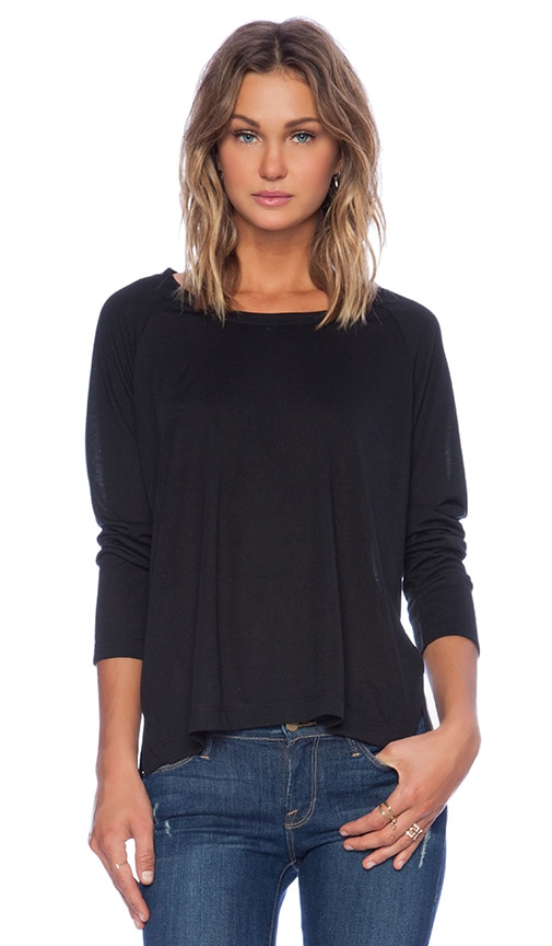 Lisakai Lisa Kai Long Sleeve Tee in Black