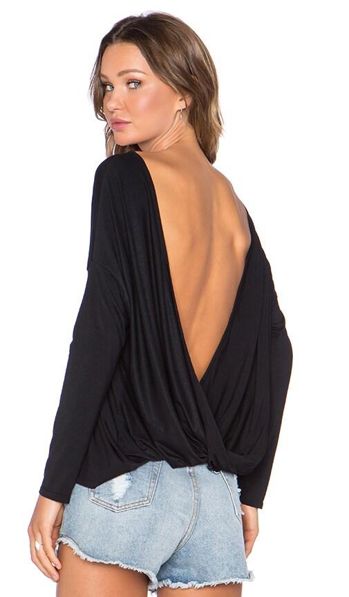 Lisakai Cowl Back Top in Black