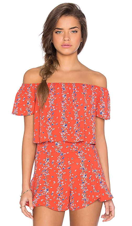 Lisakai CoCo Floral Crop Top in Red Print