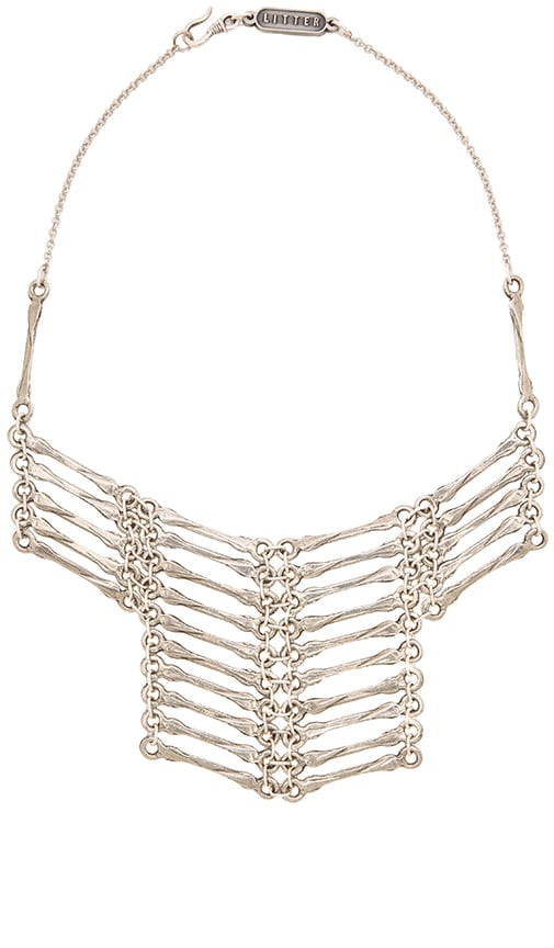 Litter Cardon Necklace in Antique Silver & Gunmetal