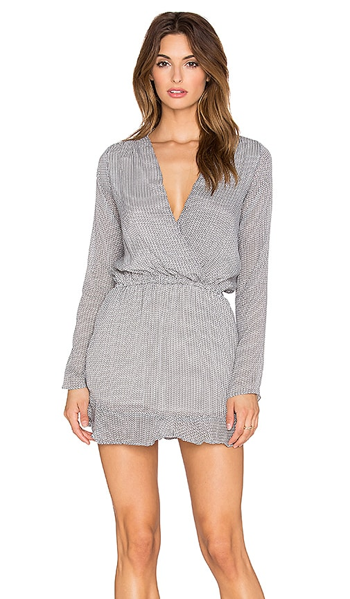 LIV Longsleeve Tunic Dress in Black & White Arrow Print