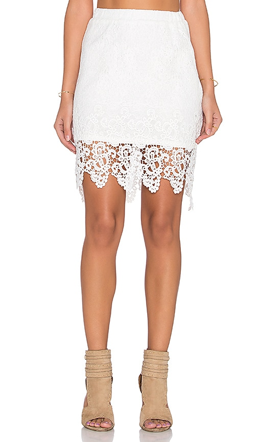 LIV Pencil Skirt in Ivory