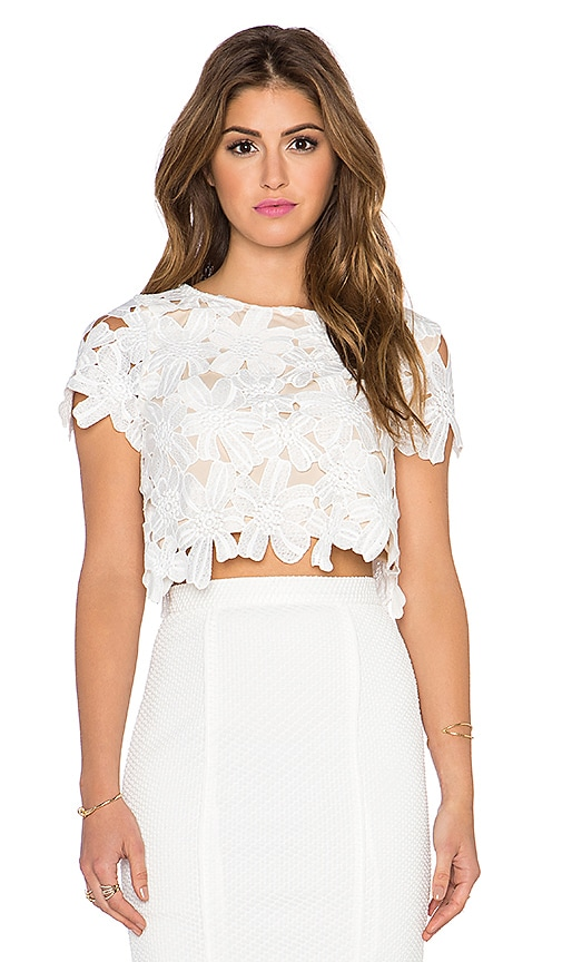 Shelly Cap Sleeve Cropped Top