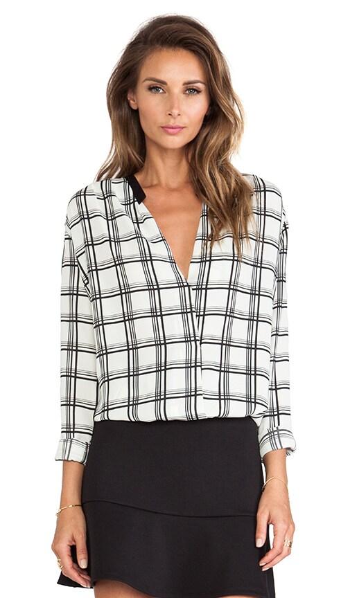 LIV Tiffany Crossover Blouse in Checker Print