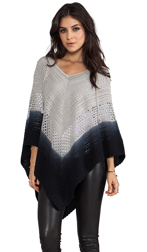 Days End Crochet Hooded Poncho