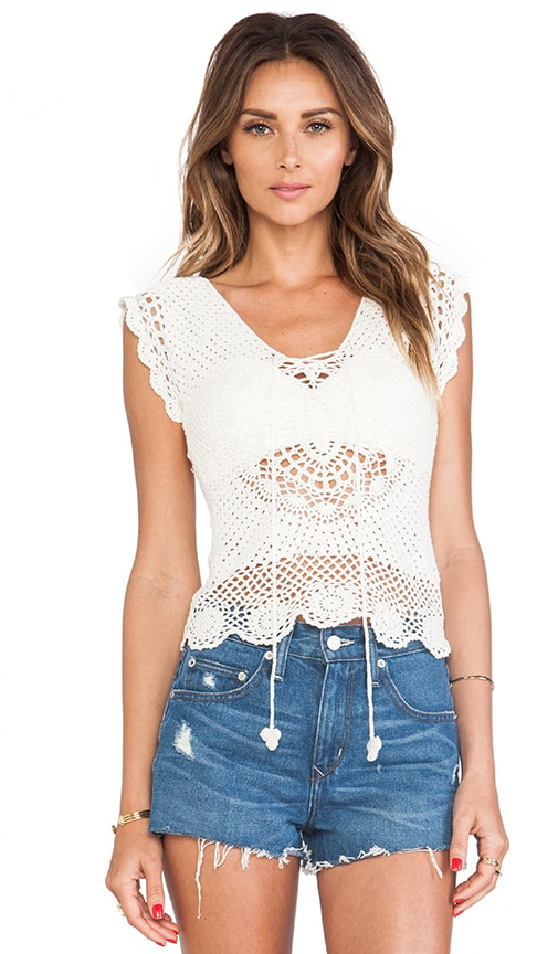 First in Line Crochet Top