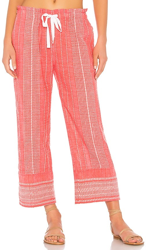 Lemlem Saba Pants in Red