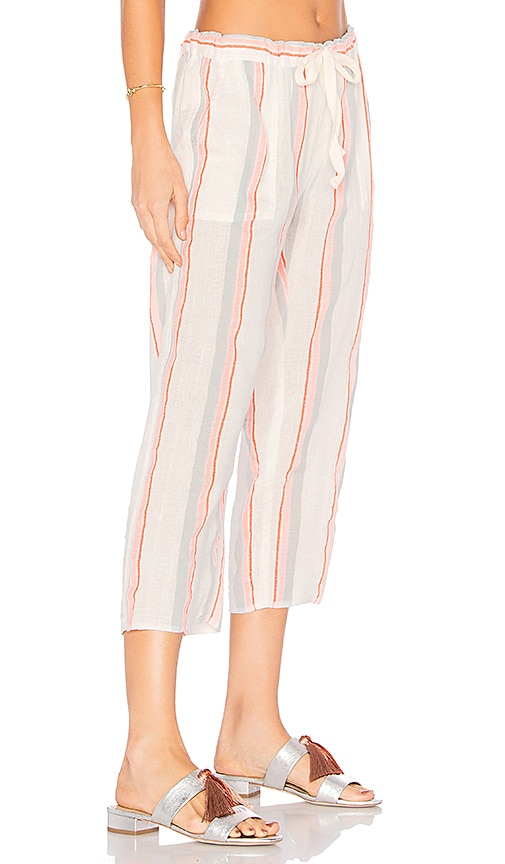 Lemlem Hayat Crop Pants in Peach