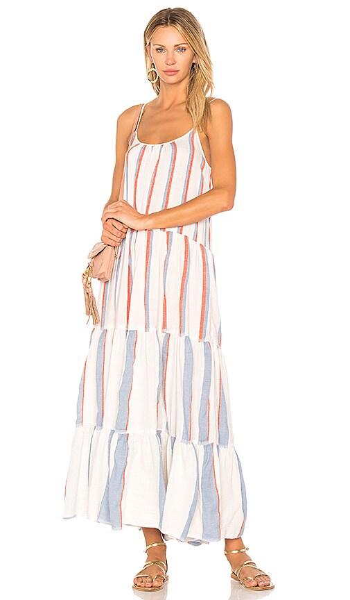 Lemlem Mamo Maxi Slip Dress in White