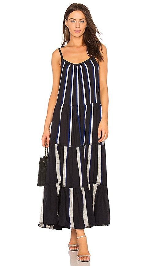 Lemlem Mamo Maxi Slip Dress in Navy