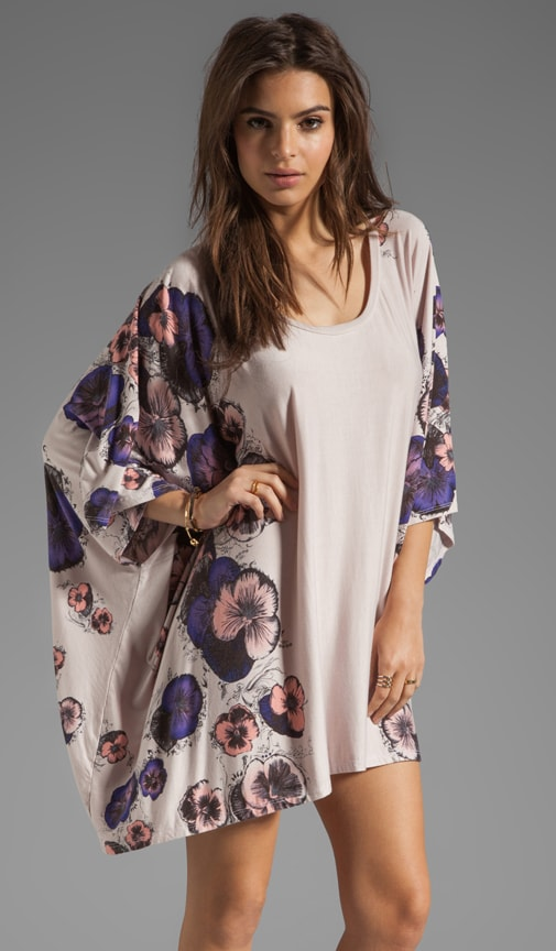 Kiki Pansies Cape Dress