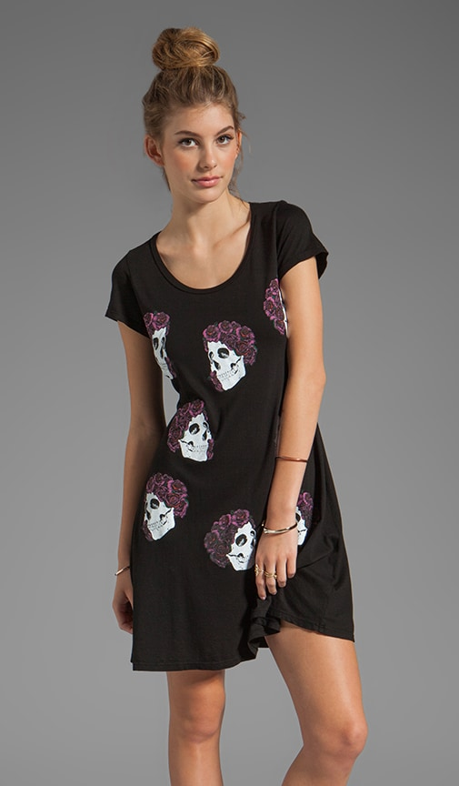 Abby Mini Color Skull with Roses Dress